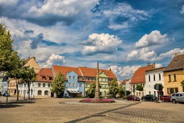 Fototapete - delitzsch, deutschland - platz in der historischen altstadt