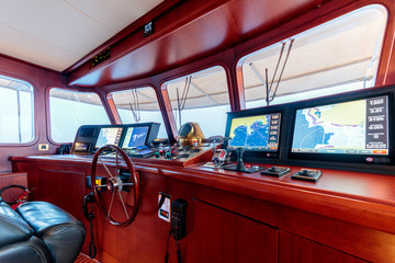 Canvas Prints Ship Interior shot of the control room of the boat