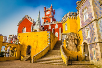 The Pena National Palace - Sintra, Lisbon,Portugal Wall mural