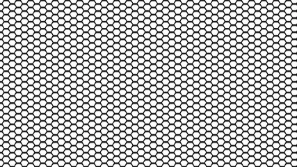 Hexagonal pattern mesh with gradient to imitate depth
