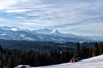 Tatra Mountains panorama in winter