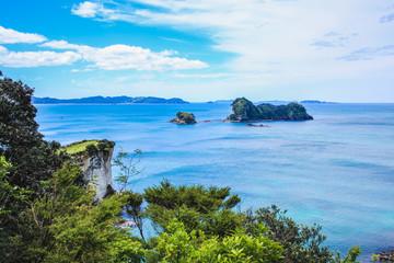 prachtig landschap op weg naar Cathedral Cove op het schiereiland Coromandel, Noordereiland, Nieuw-Zeeland