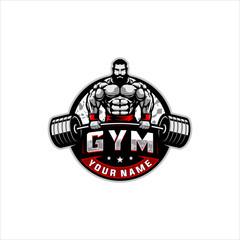 bodybuilding gym logo