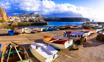travel in Grand Canary island - traditional fishing village Puerto de Sardina in north