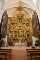 Wall Mural - ZARAGOZA, SPAIN - MARCH 3, 2018: The carved main altar in the church Iglesia de San Pablo by Damian Forment (151 - 1535) and the painted doors  by Antonio Glaceran and Jeronimo de Mora (1596).