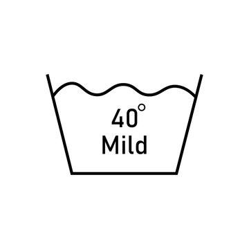Mild 40 degree icon thin lines eps ten
