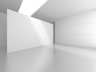 Futuristic White Architecture Design Background Fotobehang