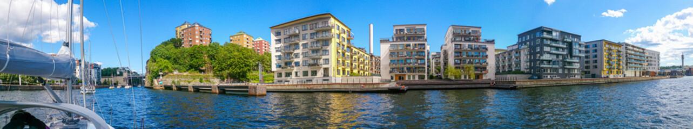 Foto auf Leinwand Stockholm Moderner Stadtteil von Stockholm / Panorama
