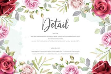 beautiful floral wreath wedding card template