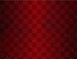市松模様と金箔 赤色