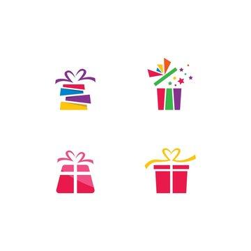 Gift Box, gift shop logo icon Vector