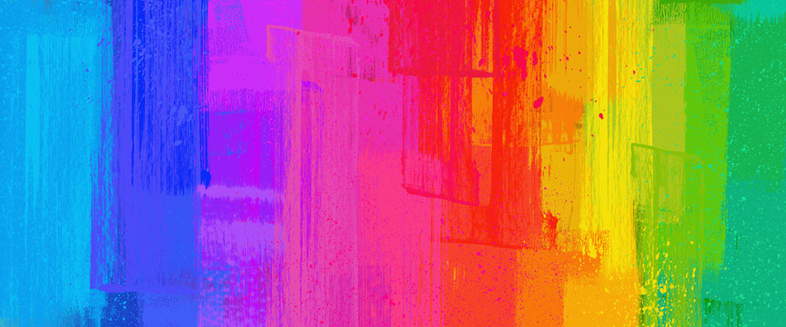 brush stroke texture, Rainbow color