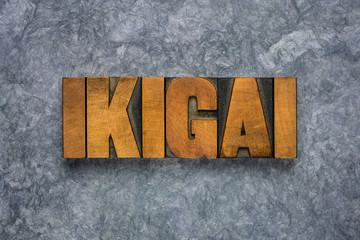 Deurstickers Londen ikigai word - Japanese life purpose concept