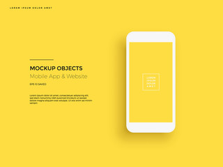 Realistic smartphone mockup. Cellphone frame with blank display. Vector mobile device concept