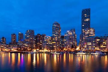 Fototapete - Vancouver Skyline at Dusk