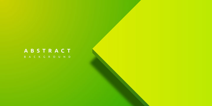 Abstract 3d green background with blank space of paper layer
