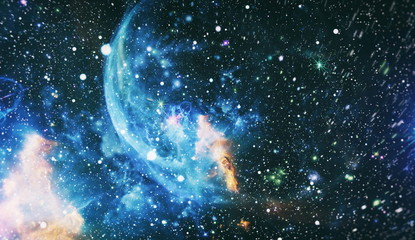 Wall Murals Nasa Chaotic space background. Dreamscape galaxy. The elements of this image furnished by NASA.