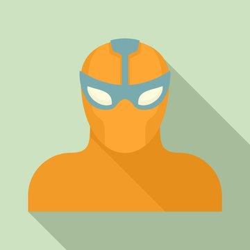 Power superhero icon. Flat illustration of power superhero vector icon for web design