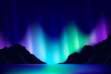 Northern lights background.