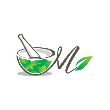 Mortar and pestle logo