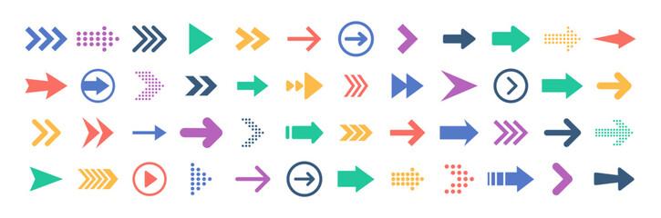 Wall Mural - Arrows big black set icons. Arrow icon. Arrow vector collection. Arrow. Cursor. Modern simple arrows. Vector illustration.