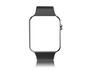 Smartwatch mockup isolated on a white background