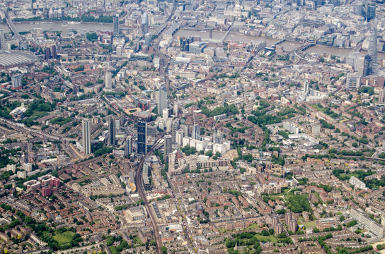 Aerial view of Elephant and Castle, London