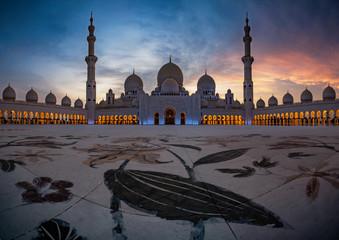 Canvas Prints Abu Dhabi Scheich Zayid Moschee Abu Dhabi