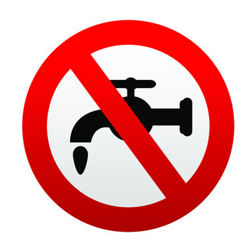 No drinking water vector sign