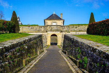 royal medieval door entrance in citadel Blaye in france