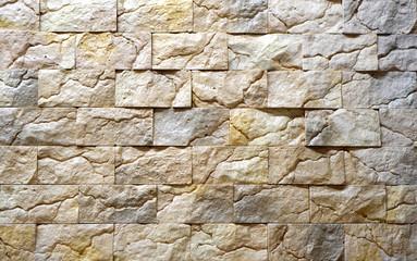 Gypsum decorative bricks background texture.