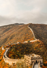 View from the great wall in China