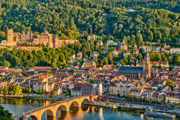 Heidelberg town on Neckar river, Germany Fototapete