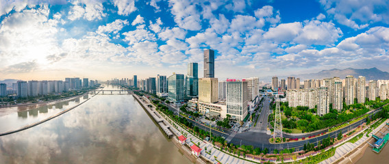 Photo sur Aluminium Paris Urban scenery on both sides of minjiang river, fuzhou city, fujian province, China