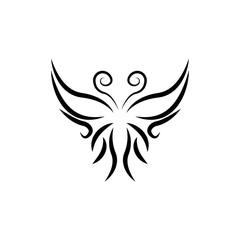 Foto op Plexiglas Uilen cartoon Butterfly Logo template Vector illustration.