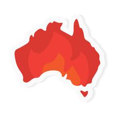 concept of burning Australia- vector illustration