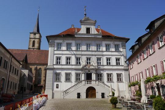 Rathaus und Kirchturm Iphofen