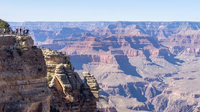 Ausblick auf Felsen im Grand Canyone