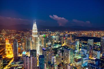 Photo Stands Kuala Lumpur Kuala Kumpur Skyline at Dusk