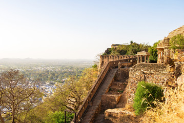Chittorgarh Fort, Rajasthan , India. Chittorgarh Fort, the largest fort in India. View from the ramparts