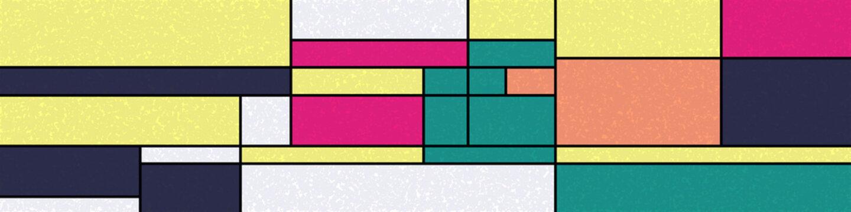 Piet Mondrian Style Computational Generative Art background illustration
