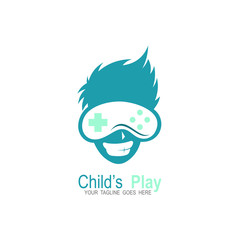 Game logo design template, Stick game icon logo, Face
