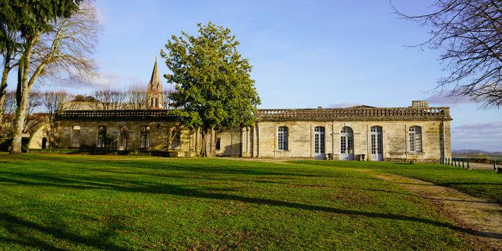 Bourg sur Gironde castle french village riverside in garonne dordogne river France