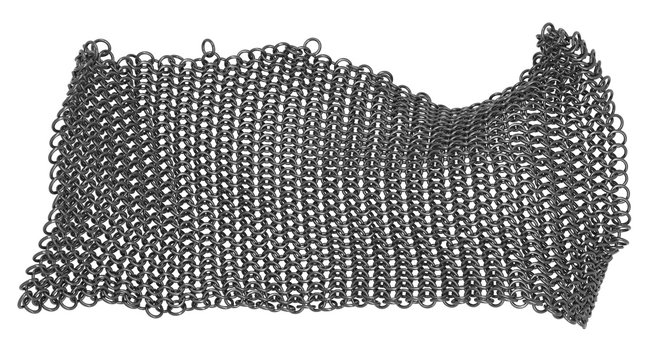 Part of a metal chain mail.