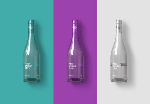 3 Wine Bottle Mockups