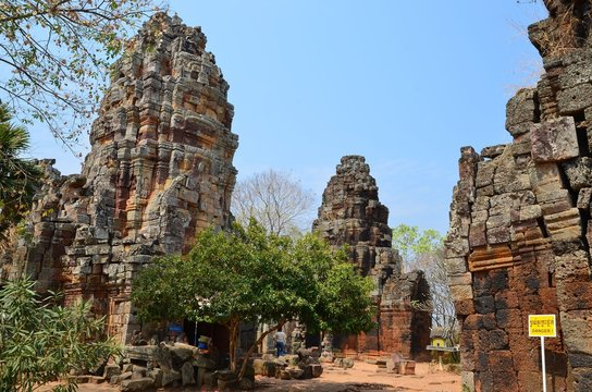 Schöne Pagode bei Battambang: Phnom Banan
