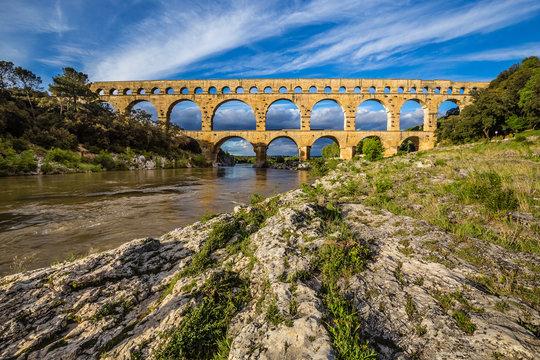 Roman Aqueduct Pont du Gard - Nimes, France