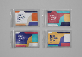 4 Plastic Zipper Bag Mockups