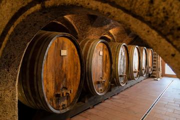 wine cellar in Thallern winer, Gumpoldskirchen near Vienna, Lower Austria, Austria