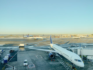 View of Planes in Airport